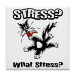 Stressed Cat Tile Coaster
