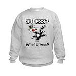 Stressed Cat Kids Sweatshirt