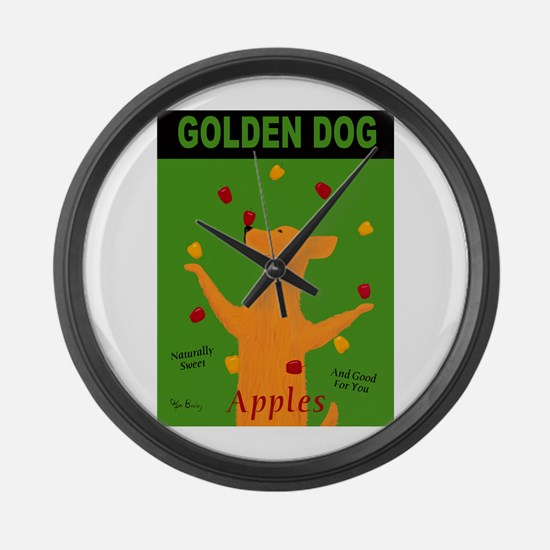 Golden Dog Large Wall Clock