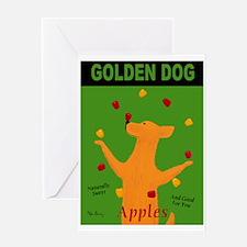 Golden Dog Greeting Card
