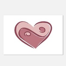 Ying Yang Heart Design Postcards (Package of 8)