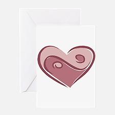 Ying Yang Heart Design Greeting Card