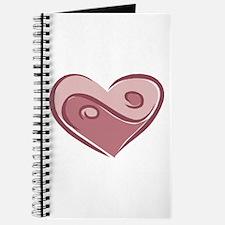 Ying Yang Heart Design Journal