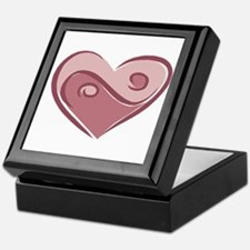 Ying Yang Heart Design Keepsake Box