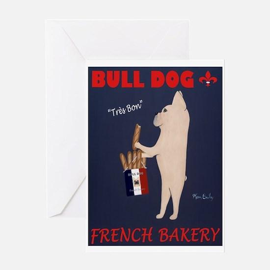 Bull Dog French Bakery Greeting Card