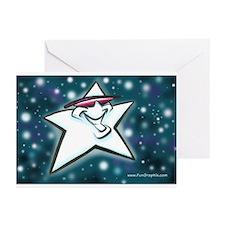 Cute California star Greeting Cards (Pk of 10)