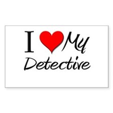 I Heart My Detective Rectangle Decal