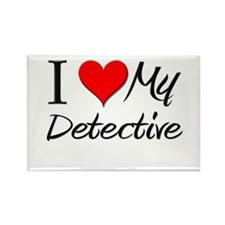 I Heart My Detective Rectangle Magnet