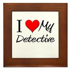 I Heart My Detective Framed Tile