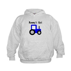 Mommy's Girl Blue Tractor Hoodie