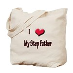 I Love (Heart) My Step Father Tote Bag