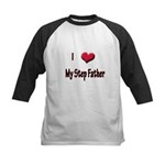 I Love (Heart) My Step Father Kids Baseball Jersey