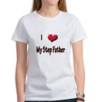 I Love (Heart) My Step Father Women's T-Shirt