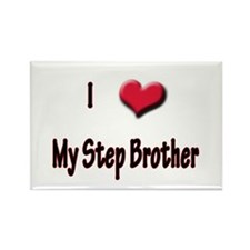 I Love (Heart) My Step Brothe Rectangle Magnet