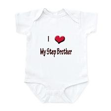 I Love (Heart) My Step Brothe Infant Bodysuit