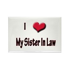 I Love (Heart) My Sister In L Rectangle Magnet (10