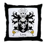 Long Family Crest Throw Pillow