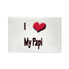 I Love (Heart) My Papi Rectangle Magnet
