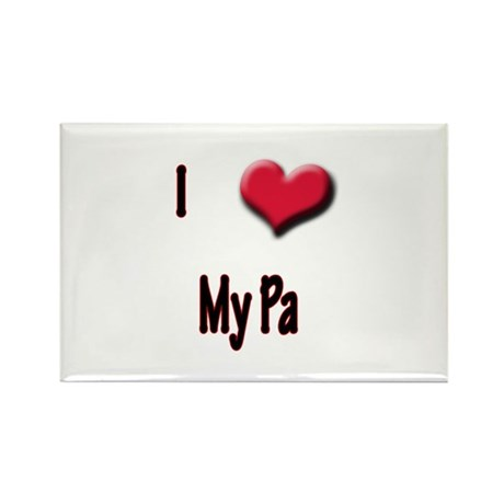 I Love (Heart) My Pa Rectangle Magnet (10 pack)