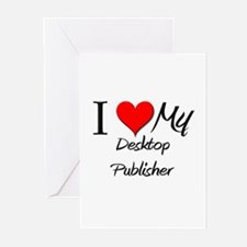 I Heart My Desktop Publisher Greeting Cards (Pk of