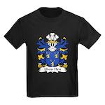 Llwn Hen Family Crest Kids Dark T-Shirt