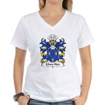 Llwn Hen Family Crest Women's V-Neck T-Shirt