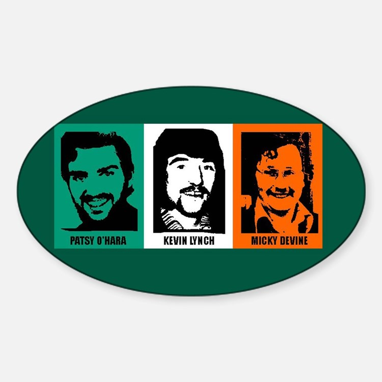 3 Hungerstrikers Oval Decal