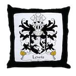Lewis Family Crest Throw Pillow