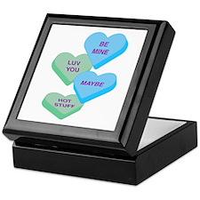 Cute Valentine Candy Hearts Design Keepsake Box