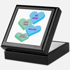 Cute Valentine Candy Hearts Design Keepsake Box