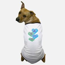 Cute Valentine Candy Hearts Design Dog T-Shirt