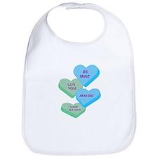 Cute Valentine Candy Hearts Design Bib