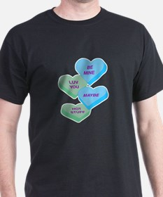 Cute Valentine Candy Hearts Design T-Shirt