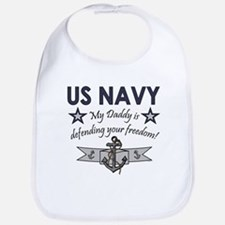 NAVY Daddy defending freedom Bib