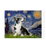 Starry Night / Welsh Corgi Postcards (Package of 8