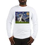 Starry Night / Welsh Corgi Long Sleeve T-Shirt