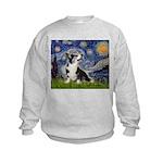 Starry Night / Welsh Corgi Kids Sweatshirt