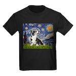 Starry Night / Welsh Corgi Kids Dark T-Shirt