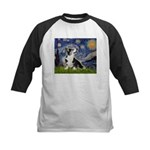 Starry Night / Welsh Corgi Kids Baseball Jersey