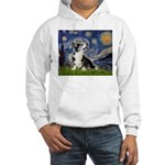 Starry Night / Welsh Corgi Hooded Sweatshirt