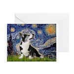 Starry Night / Welsh Corgi Greeting Cards (Pk of 1