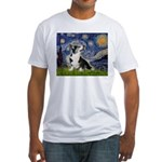Starry Night / Welsh Corgi Fitted T-Shirt