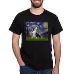 Starry Night / Welsh Corgi Dark T-Shirt
