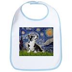 Starry Night / Welsh Corgi Bib