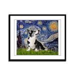 Starry Night / Welsh Corgi Framed Panel Print