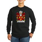 Laugharne Family Crest Long Sleeve Dark T-Shirt