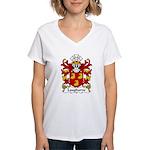 Laugharne Family Crest Women's V-Neck T-Shirt