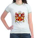 Laugharne Family Crest Jr. Ringer T-Shirt