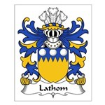 Lathom Family Crest Small Poster