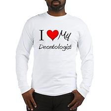 I Heart My Deontologist Long Sleeve T-Shirt
